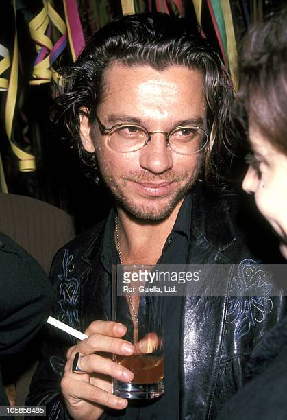 Michael Hutchence of INXS during Gaultier Fashion Show at Henri Bendel to Celebrate Its First Anniversary at Henri Bendel, Fifth Avenue, NYC in New...