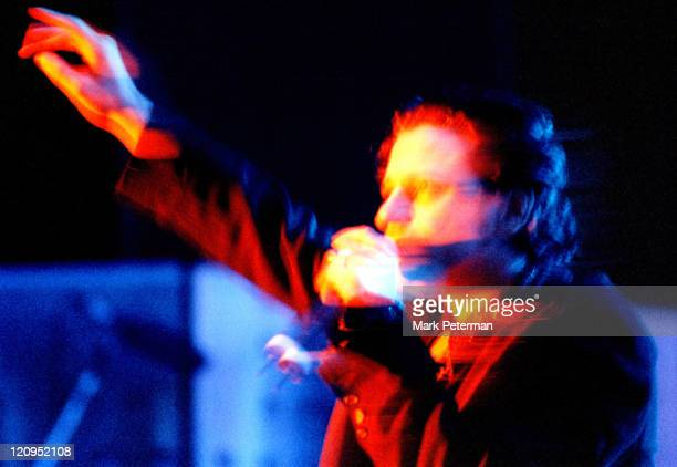 Michael Hutchence of INXS during INXS Perform at the Spirit Festival in Kansas City Missouri United States