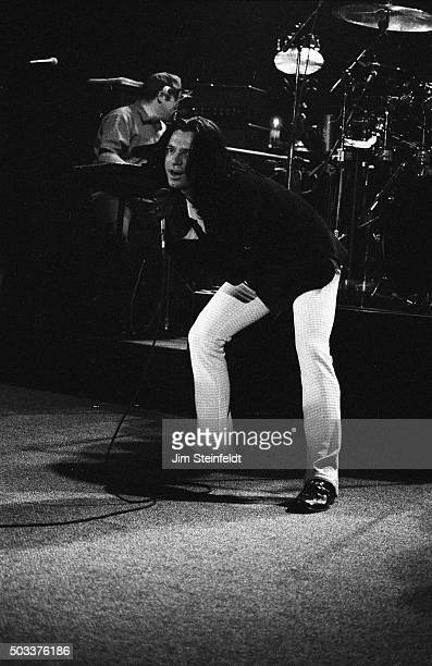 Michael Hutchence of INXS performs at the Mayan Theater in Los Angeles California on April 24 1997