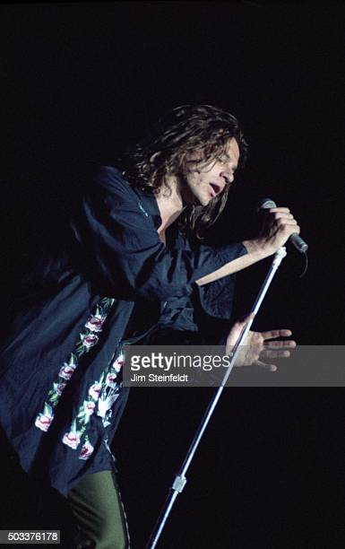 Michael Hutchence of INXS performs at the Met Center in Bloomington Minnesota on June 16 1988