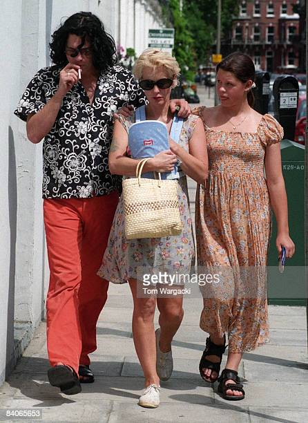 Michael Hutchence Paula Yates with her baby daughter Heavenly Hiraani Tiger lily Hutchence and 13 year old Fifi Trixibelle Geldof sighting on July 31...
