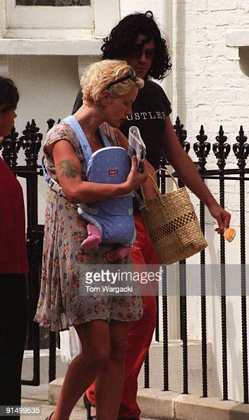 Michael Hutchence Paula Yates with her baby daughter Heavenly Hiraani Tigerlily Hutchence and 13 year old Fifi Trixibelle Geldof sighting on July 22...