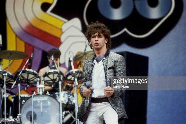 Michael Hutchence performing with 'INXS' at the US Festival in Devore California on May 28 1983