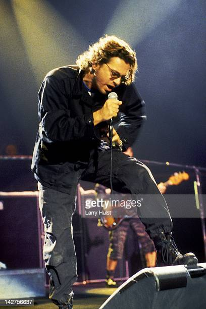 Michael Hutchence performs with 'INXS' at the Air Force Academy in Colorado Springs Colorado on April 17 1994