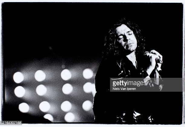 Michael HutchenceINXS performing on stage Statenhal The Hague Netherlands 7th March 1991