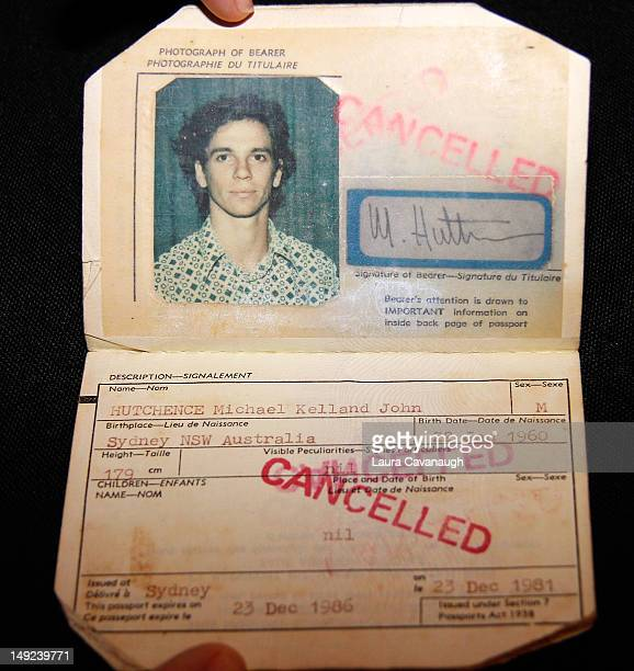 Michael Hutchence's passport displayed at a press preview for the Gotta Have Rock and Roll online auction at the Gotta Have It store on July 25 2012...