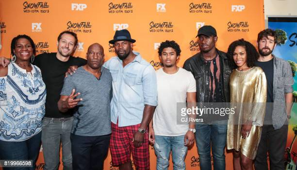 Michael Hyatt Dave Andron John Singleton Amin Joseph Isaiah John Damson Idris Angela Lewis and Carter Hudson attend the New York screening of...