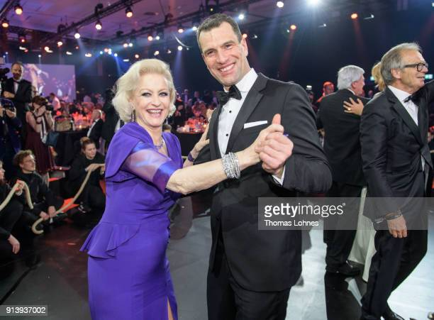 Michael Ilgner and Marika Kilius dance together at the German Sports Gala 2018 'Ball Des Sports' on February 3 2018 in Wiesbaden Germany