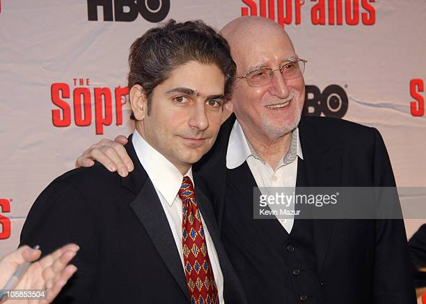 Michael Imperioli and Dominic Chianese during The Sopranos Final Season World Premiere Red Carpet at Radio City Music Hall in New York City New York...