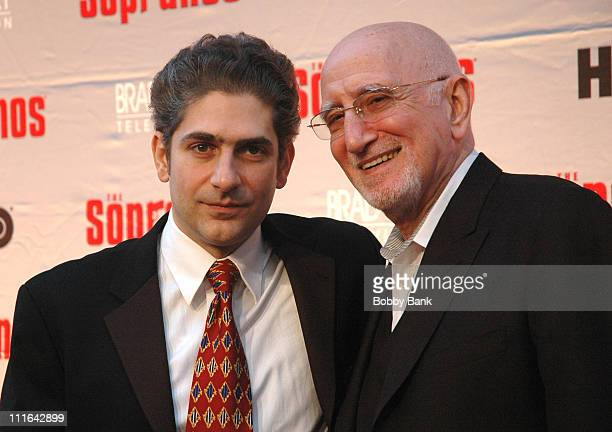 Michael Imperioli and Dominic Chianese during The Sopranos Final Season World Premiere Arrivals at Radio City Music Hall in New York City New York...