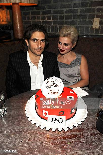Michael Imperioli and his wife Victoria celebrate his birthday at TAO Las Vegas at the Venetian Hotel and Casino Resort on March 27 2009 in Las Vegas...