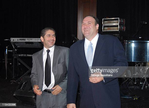 Michael Imperioli and James Gandolfini at a Sopranos benefit at Pier 60 at Chelsea Piers in New York City for the St Jude Children's Research Hospital