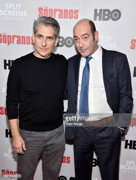 Michael Imperioli and John Ventimiglia attend the The Sopranos 20th Anniversary Panel Discussion at SVA Theater on January 09 2019 in New York City