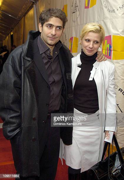 Michael Imperioli and Victoria Imperioli during The 19th Annual Rock and Roll Hall of Fame Induction Ceremony Arrivals at Waldorf Astoria in New York...