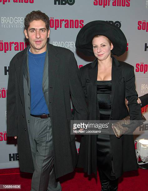 Michael Imperioli and Victoria Imperioli during The Sopranos Sixth Season New York City Premiere Arrivals at MoMA 53rd Street in New York City New...