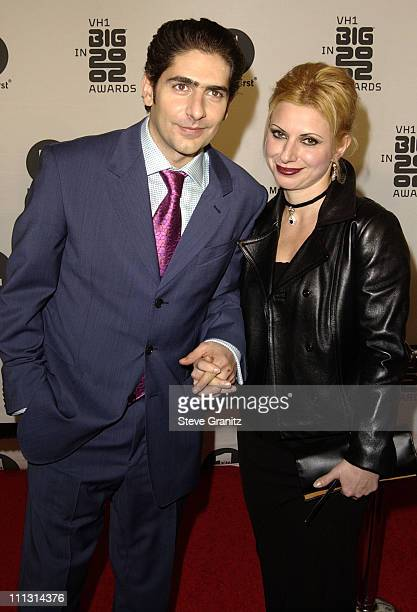 Michael Imperioli and Victoria Imperioli during VH1 Big in 2002 Awards Arrivals at The Grand Olympic Auditorium in Los Angeles California United...