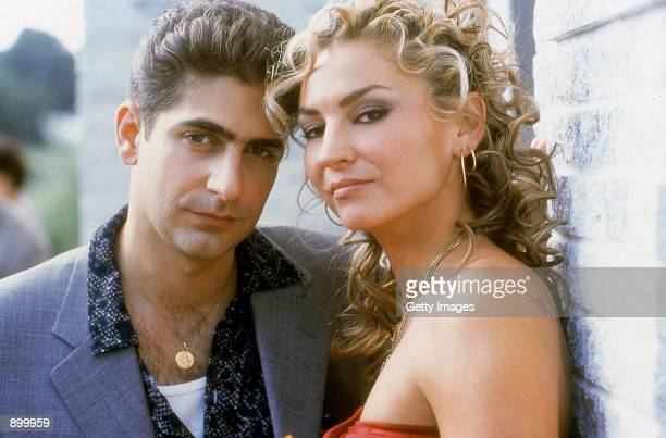 Michael Imperioli as Christopher Moltisanti and Drea de Matteo as Adriana La Cerva star in HBO's hit television series The Sopranos