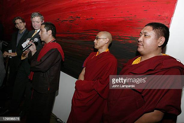 Michael Imperioli David Rand Executive Director Tenzin Gyatso Instituteand Tibetan Buddhist monks form Dalai Lama's Scholar Program Naplui Tenpei...