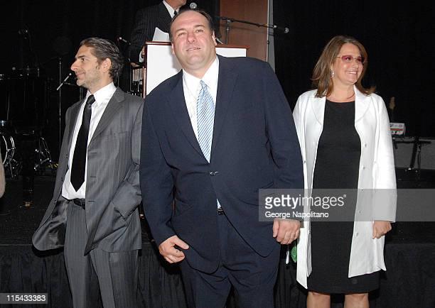 Michael Imperioli James Gandolfini Lorraine Bracco at a Sopranos benefit at Pier 60 at Chelsea Piers in New York City for the St Jude Children's...