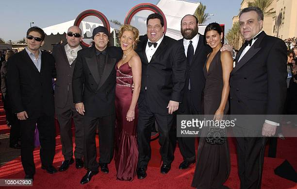 Michael Imperioli John Ventimiglia Steven Van Zandt Edie Falco Steve Schirripa James Gandolfini JamieLynn Sigler and Tony Sirico of 'The Sopranos'