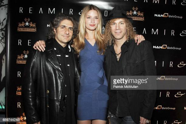 Michael Imperioli Linda Vojtova and David Bryan attend REAMIR CO Launch Party for their new SIGNITURE PRODUCTS Performance by MICHAEL IMPERIOLI LA...