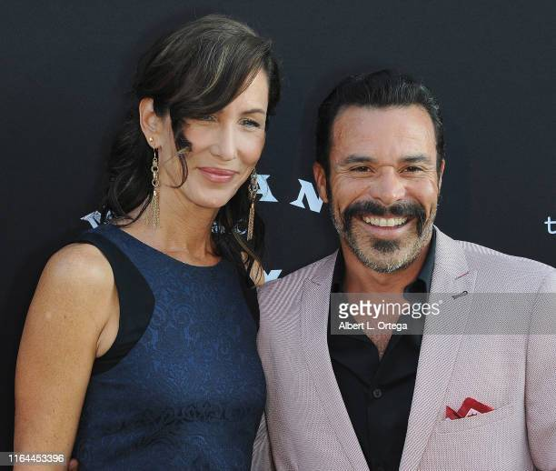 Michael Irby and Susan Elena Matus arrive for the Premiere Of FX's Mayans MC Season 2 held at ArcLight Cinerama Dome on August 27 2019 in Hollywood...