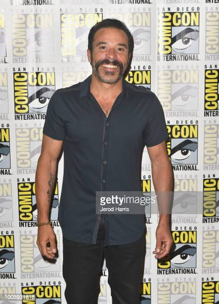 Michael Irby attends FX's Mayans MC press line during ComicCon International 2018 at Hilton Bayfront on July 22 2018 in San Diego California