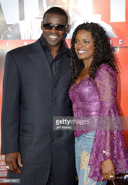 Michael Irvin and guest during The Longest Yard Los Angeles Premiere Arrivals at Grauman's Chinese Theater in Hollywood California United States