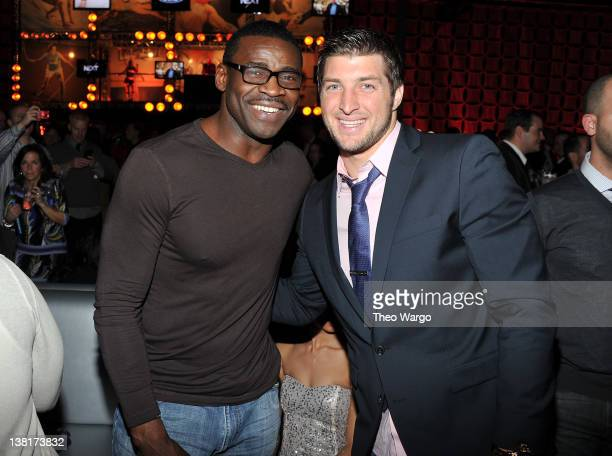 Michael Irvin and Tim Tebow attend ESPN The Magazine's 'NEXT' Event on February 3 2012 in Indianapolis Indiana