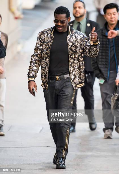 Michael Irvin is seen at 'Jimmy Kimmel Live' on January 10 2019 in Los Angeles California