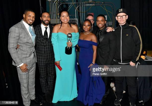 Michael J Ferguson Omari Hardwick Courtney A Kemp Naturi Naughton Larenz Tate and Gary Lennon winners of the Outstanding Drama Series for 'Power'...