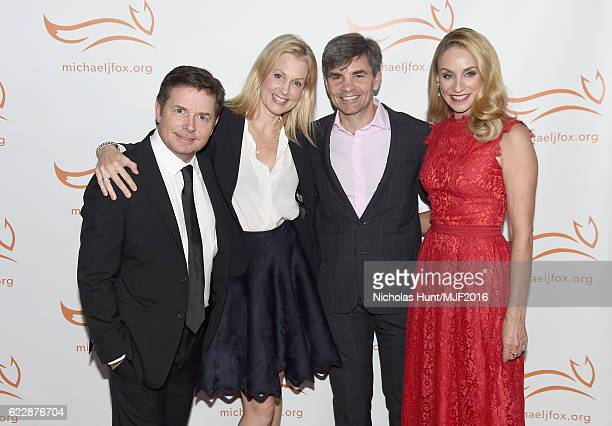 Michael J Fox Alexandra Wentworth George Stephanopoulos and Tracy Pollan attend Michael J Fox Foundation's 'A Funny Thing Happened On The Way To Cure...