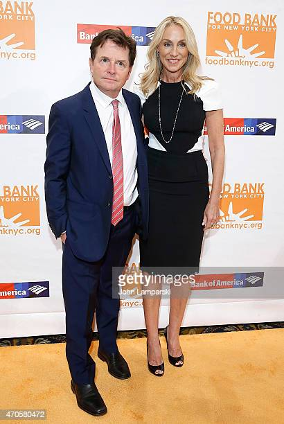 Michael J Fox and his wife Tracy Pollan attend 2015 Can Do Awards at Cipriani Wall Street on April 21 2015 in New York City