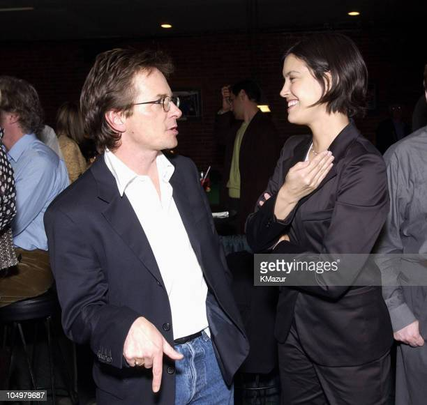 Michael J Fox and Phoebe Cates during OH BABY An Evening with Jerry Seinfeld to Benefit Baby Buggy After Party at Amsterdam Billiards in New York...