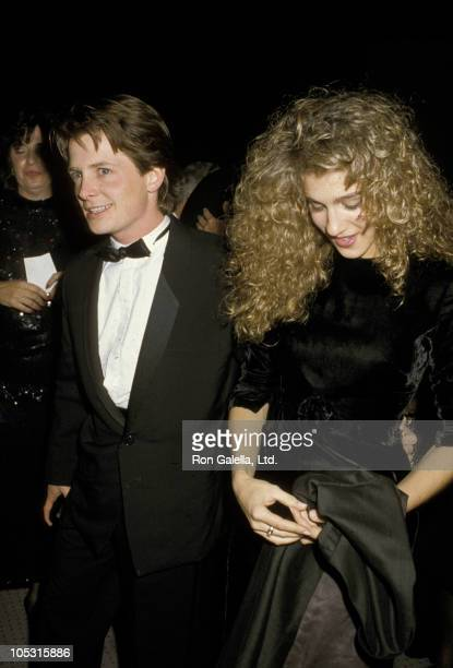 Michael J Fox and Sarah Jessica Parker during Jewish National Funds Annual Tree of Life Awards at Sheraton Premiere Hotel in Los Angeles California...