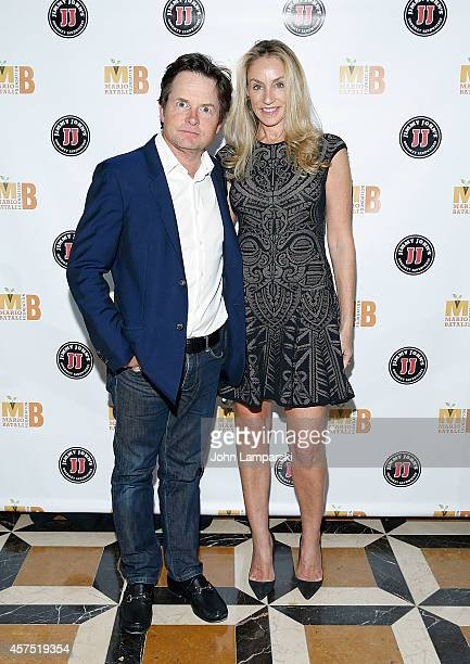 Michael J Fox and Tracy Pollan attend 3rd Annual Mario Batali Foundation Benefit Dinner at Del Posto Ristorante on October 19 2014 in New York City