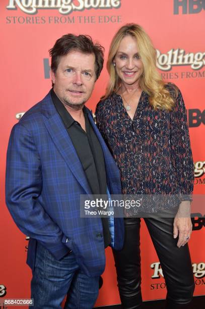 Michael J Fox and Tracy Pollan attend Rolling Stone Stories From The Edge World Premiere at Florence Gould Hall on October 30 2017 in New York City