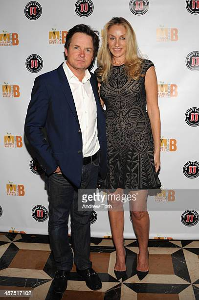 Michael J Fox and Tracy Pollan attend the 3rd Annual Mario Batali Foundation Benefit Dinner at Del Posto Ristorante on October 19 2014 in New York...
