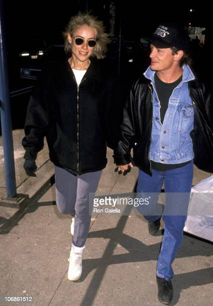Michael J Fox and Tracy Pollan during Michael J Fox and Tracy Pollan Sighting on the Streets of New York City February 18 1990 at Between Broadway...