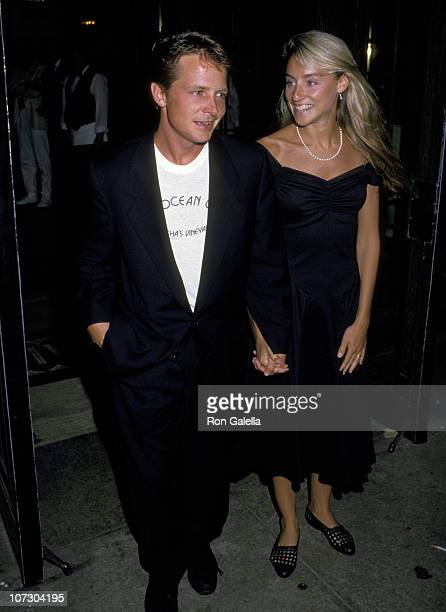 Michael J Fox and Tracy Pollan during Michael J Fox and Tracy Pollan Sighting at the Cafe de Artists in New York City August 17 1988 at Cafe De...