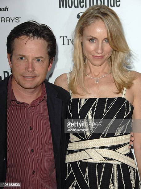 """Michael J. Fox and Tracy Pollan during Modern Bride's """"25 Trendsetters Of 2007"""" Awards Dinner - Outside Arrivals at The New York Palace Hotel in New..."""
