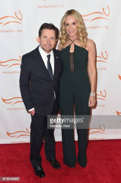 Michael J Fox and Tracy Pollan on the red carpet of A Funny Thing Happened On The Way To Cure Parkinson's benefitting The Michael J Fox Foundation at...