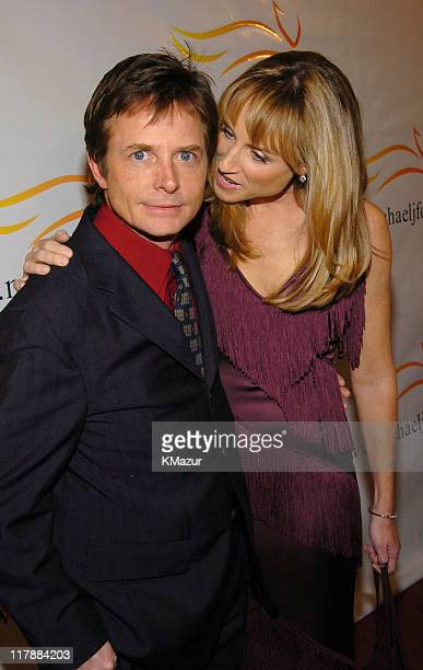 Michael J Fox and wife Tracy Pollan during 'A Funny Thing Happened on the Way to Cure Parkinson's' A Benefit Evening for the Michael J Fox Foundation...