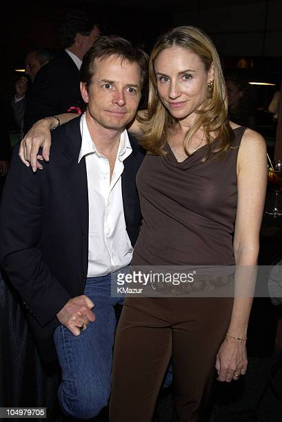 Michael J Fox and wife Tracy Pollan during OH BABY An Evening with Jerry Seinfeld to Benefit Baby Buggy After Party at Amsterdam Billiards in New...