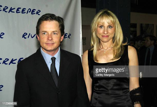 Michael J. Fox and wife Tracy Pollan during The 2004 Riverkeeper Benefit Dinner at Chelsea Piers, Pier 60 in New York City, New York, United States.