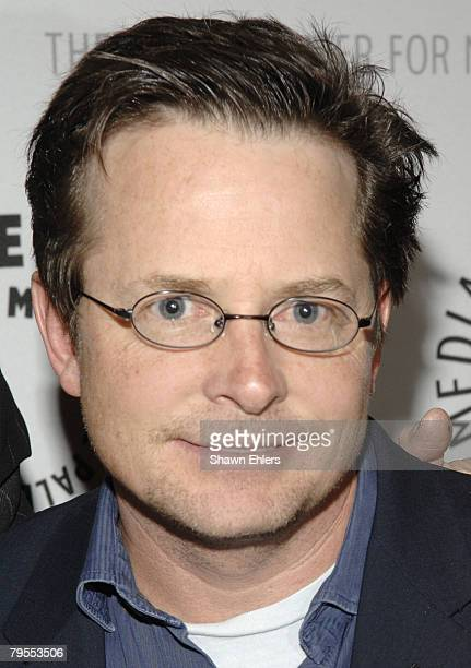 Michael J. Fox attends Gary David Goldberg Celebrates Autobiography Sit, Ubu Sit at The Paley Center for Media on February 05, 2008 in New York City.