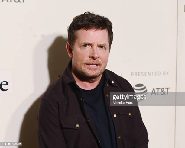 Michael J Fox attends red carpet for the Tribeca Talks Storytellers 2019 Tribeca Film Festival at BMCC Tribeca PAC on April 30 2019 in New York City