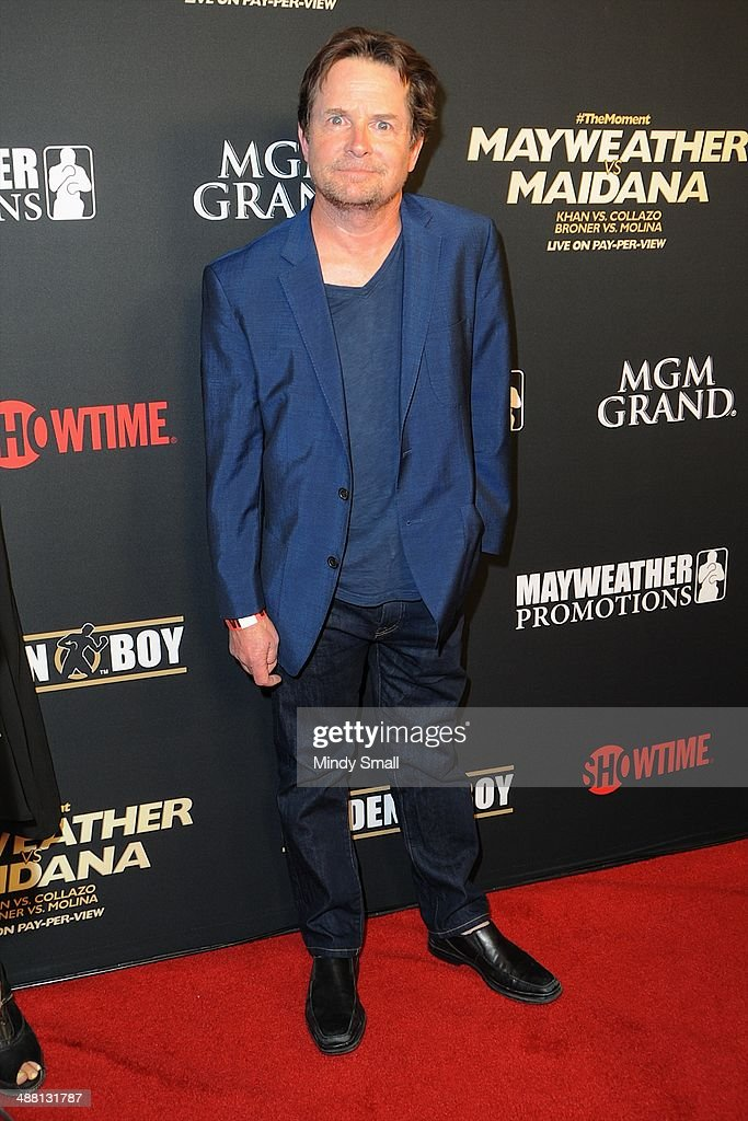 Michael J. Fox attends the Mayweather Vs. Maidana Pre-Fight Party Presented By Showtime at MGM Garden Arena on May 3, 2014 in Las Vegas, Nevada.