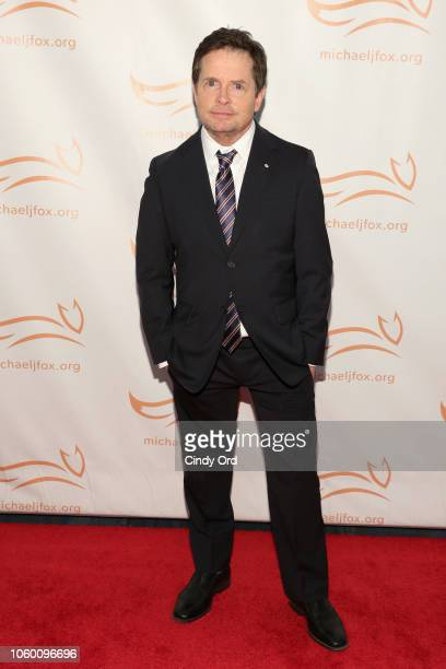 Michael J Fox on the red carpet of A Funny Thing Happened On The Way To Cure Parkinson's benefitting The Michael J Fox Foundation at the Hilton New...