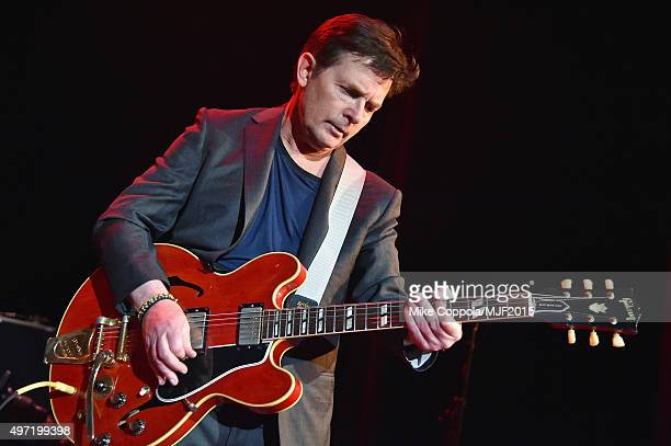 """Michael J Fox performs onstage during the Michael J Fox Foundation """"A Funny Thing Happened On The Way To Cure Parkinson's"""" Gala at The..."""